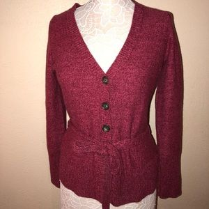 Banana republic pink variegated tie cardigan Sz M